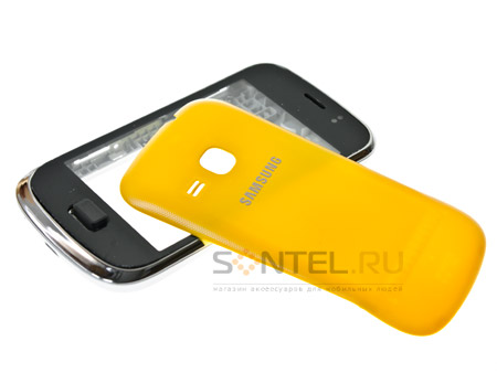 Корпус Class A-A-A Samsung S6500 желтый + кнопки