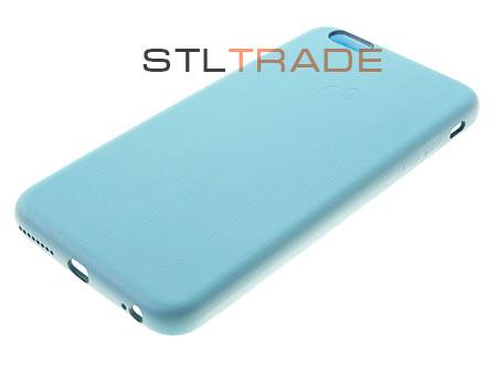 Накладка кожаная iPhone Class A-A-A для iPhone 6 5,5, голубая