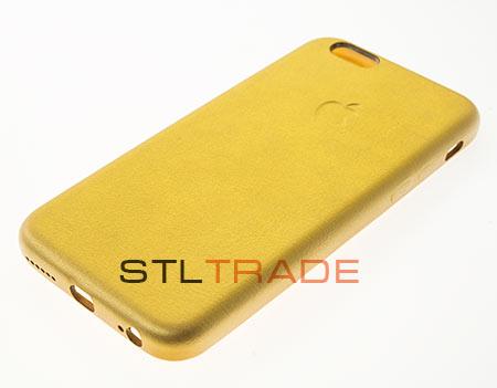 Накладка кожаная iPhone Class A-A-A для iPhone 6 4,7, золотая