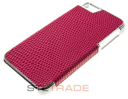 Накладка OCC для iPhone 5, рептилия темно розовая